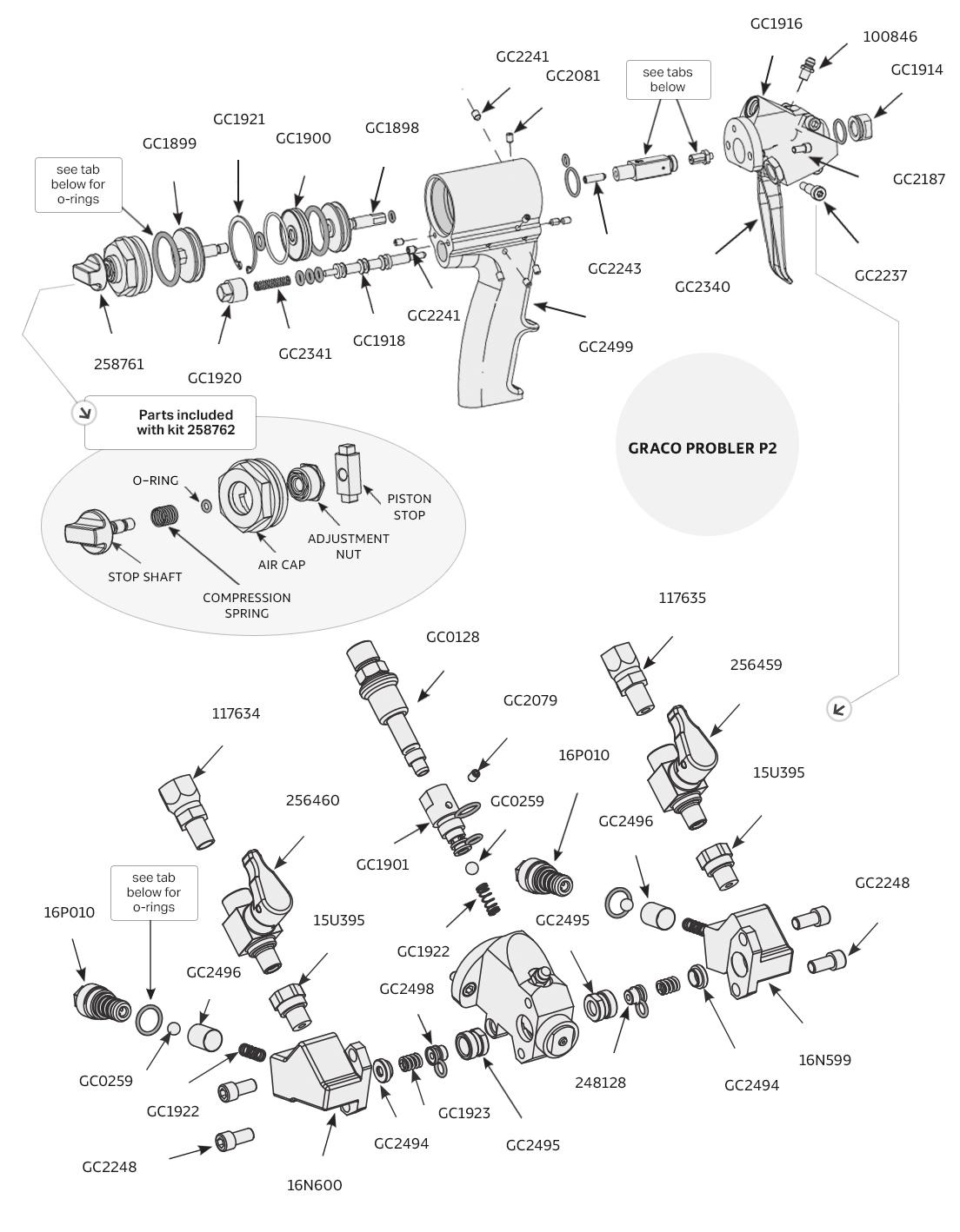 Graco Probler P2 Plural Component Spray Gun